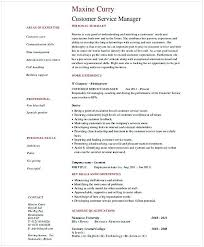 Retail Customer Service Manager Resume Shannon Customer