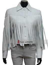 saloane peterson white fringe leather jacket sloane peterson jacket ferris bueller s day off sloane peterson jacket
