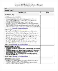 employee evaluation of manager form 29 sample employee evaluation forms