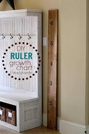 Easy Diy Ruler Growth Chart Oldsaltfarm Com