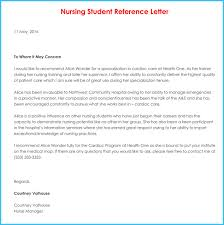 letter of recommendation template for nursing student nursing reference recommendation letters 9 sample letters