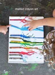 melted crayon art for toddlers meri