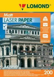<b>Бумага</b> для лазерной печати <b>Lomond</b> 200/А4/250л. <b>Матовая</b> ...