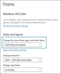 hp s changing display settings