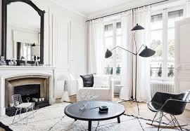 a modern living room with white walls