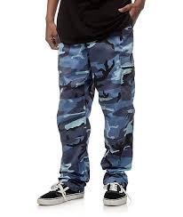 Zumiez Size Chart Rothco Bdu Sky Blue Camo Cargo Pants