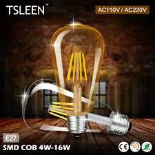 Giá Rẻ Đèn LED Edison 220V E27 ST64 Đèn LED Dây Tóc Đèn 110V Edison Bóng Đèn  Retro Kính Retro Nến Chiếu Sáng vàng 4W 8W 12W 16W led filament light