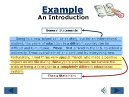 the essay writing process example an introduction general statements