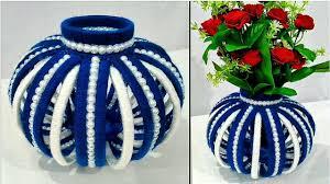 News Paper Flower Vase Diy Flower Vase Out Of Waste Newspaper And Wool Best Home