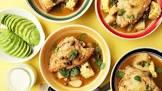 ajiaco bogotano  chicken and potato soup  bogota style