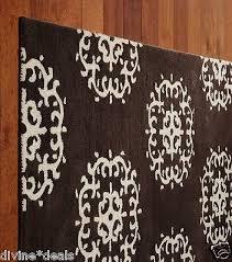 pottery barn kids medallion chocolate rug 5 x 8 brand new wool make me an offer