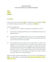 Formal Job Offer Template Official Offer Letter Template Employment Offer Letter