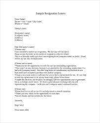 Employee Letter of Resignation 2 Week Notice