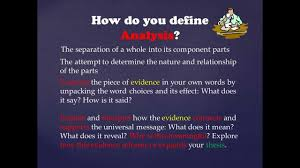 use evidence and analysis to support a thesis