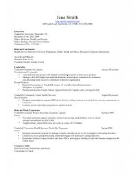 Awards On Resume Relevant Coursework On Resume Example Examples Education Science 20