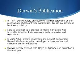 evolution theory development and evidence ppt  16 darwin s publication in 1844 darwin wrote an essay on natural selection