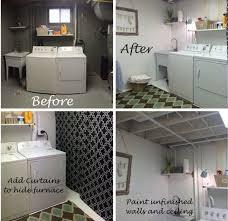 unfinished basement laundry room ideas unfinished basement laundry room makeover s4 makeover