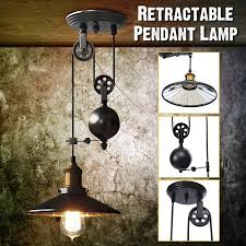 Adjustable light fixture Ceiling Fixture Ac110240v E27industrial Vintage Chandeliers Pulley Light Pendant Lighting Fixture Adjustable Wire Retractable Walmart Ac110240v E27industrial Vintage Chandeliers Pulley Light Pendant