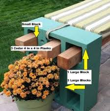 cinderblock furniture. i recently finished our cinder block bench to provide additional seating on patio cinderblock furniture v