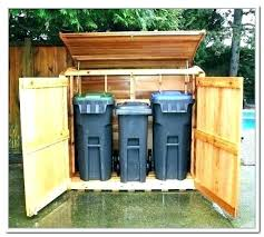 outdoor garbage bin storage trash can outside cabinet ca container plans