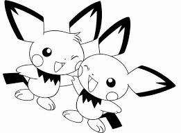 Small Picture Pichu Pokemon Coloring Pages Coloring Coloring Pages