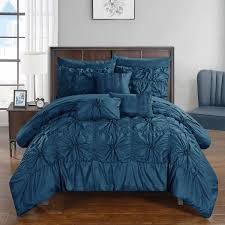 chic home 10 piece springfield bedding set queen navy
