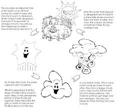 Water Cycle Coloring Sheet Water Cycle Coloring Pages For