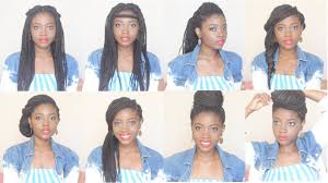 Box Braid Hair Style how i style box braids 8 hairstyles in 4 minutes youtube 3396 by wearticles.com