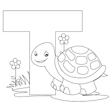 Coloring Pages For Letter T With Free Printable Alphabet Coloring