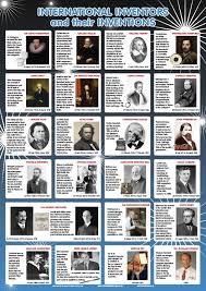 Inventors And Their Inventions Chart Shuter Shooter Publishers Pty Ltd Viewproduct