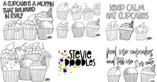 I even have some decorated cupcakes. 5 Free Cupcake Coloring Pages Stevie Doodles