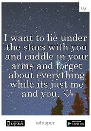 I Want To Lie Under The Stars [in A Hammock] With You And Cuddle In Impressive Love Under The Stars Quotes