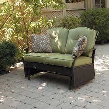 outdoor gliders for sale. Porch Glider Bench Love Seat Wicker 2 Person Outdoor Patio Green Cushions Sofa Gliders For Sale R