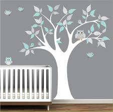 Children Vinyl Wall Decals tree decal with owls-nursery kids wall ...