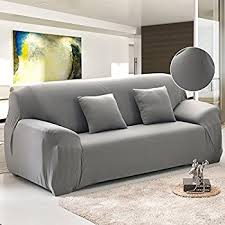 sofa covers. FP Sofa Covers For 3 Cushion Couch Grey Polyester Spandex Stretch Arm Elastic Slipcover Furniture A