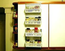 pantry door mounted e racks rack organizer 7 wall no drill wire for shelving r