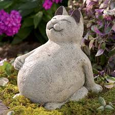 cement garden statues. Perfect Statues Volcanic Ash Lucky Cat With Cement Garden Statues