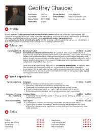 Resume In English For Students | Sugarflesh