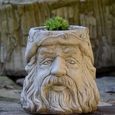 wizard flower pot garden ornament hand
