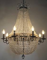 edison vintage crystal chandelier