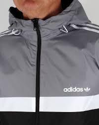 adidas windbreaker mens. adidas originals reversible windbreaker grey/black mens