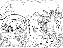 Small Picture Free Printable Nativity Coloring Pages for Kids Best Coloring