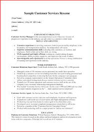 Customer Service Representative Resume Examples Resume Template