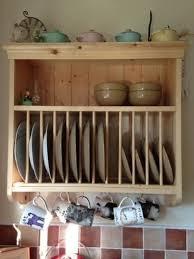 kitchen wall units plate racks