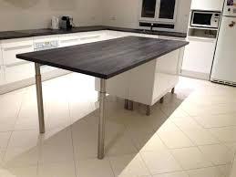 Fabriquer Un Plan De Travail Cuisine Fabriquer Table Bar Avec Plan
