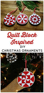 1102 best Christmas DIY Quilted Ornaments images on Pinterest | At ... & DIY Christmas Ornaments with Quilt Block Patterns Adamdwight.com
