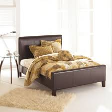 Euro Sable Queen-Size Platform Bed with Side Rails and Soft Upholstered