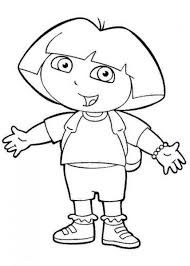 Awesome Dora With Dog Coloring Pages