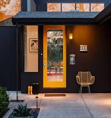 mid century modern front doors glass