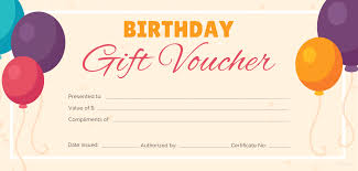 Gift Voucher Template Free Birthday Gift Certificate Templates Certificate